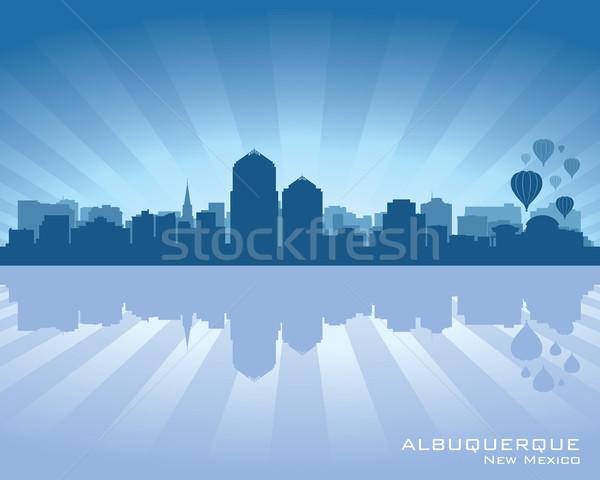 ニューメキシコ州 スカイライン 反射 水 空 市 ストックフォト © Yurkaimmortal