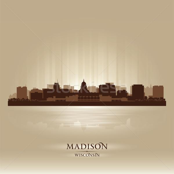 Madison, Wisconsin skyline city silhouette Stock photo © Yurkaimmortal