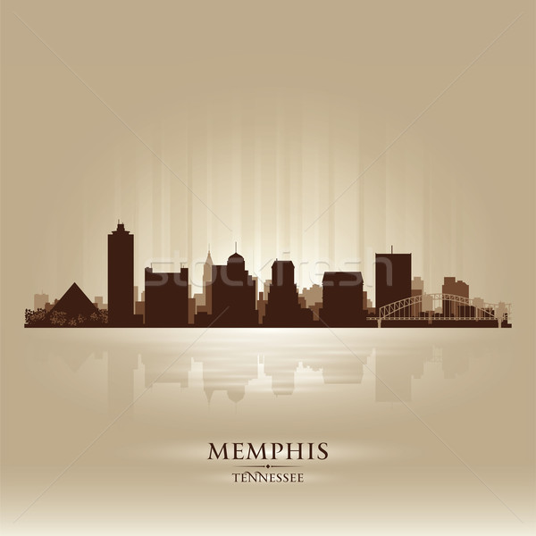Memphis Tennessee skyline city silhouette Stock photo © Yurkaimmortal