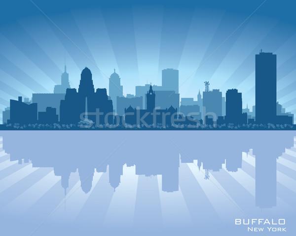 Buffalo, New York skyline city silhouette Stock photo © Yurkaimmortal