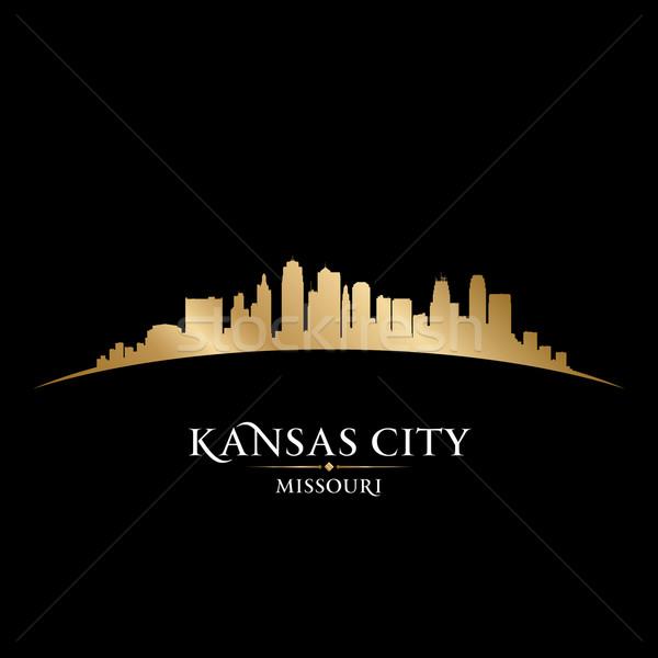 カンザス 市 ミズーリ州 スカイライン シルエット 黒 ストックフォト © Yurkaimmortal