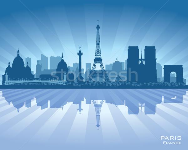 パリ フランス ベクトル シルエット 実例 ストックフォト © Yurkaimmortal