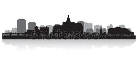 Canada vector silhouet business gebouw Stockfoto © Yurkaimmortal