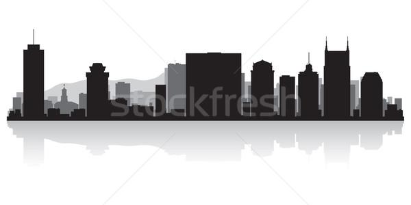 Сток-фото: силуэта · США · бизнеса · здании · фон