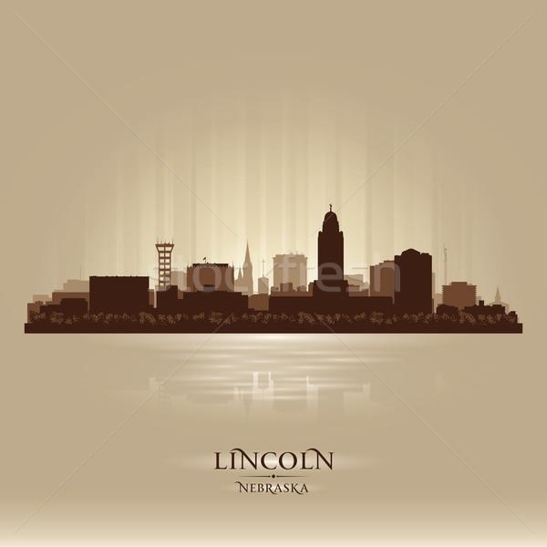 Nebraska városkép sziluett vektor illusztráció város Stock fotó © Yurkaimmortal
