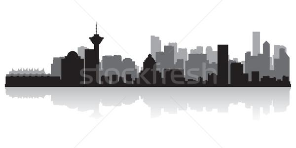 Vancouver Canada vettore silhouette business Foto d'archivio © Yurkaimmortal