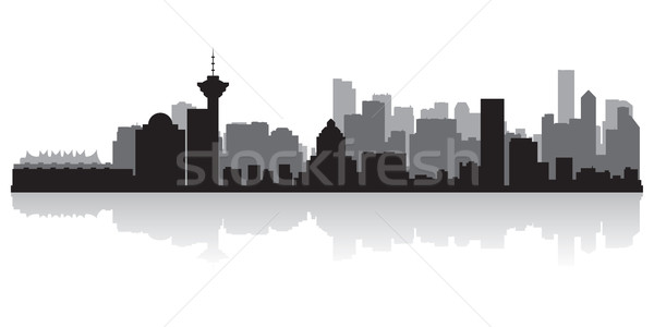 Vancouver Canadá vetor silhueta negócio Foto stock © Yurkaimmortal