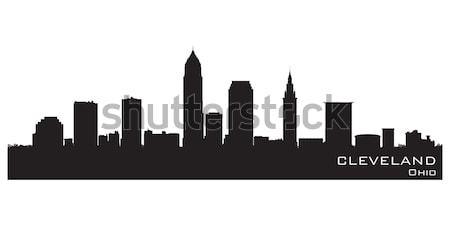 Cleveland, Ohio skyline. Detailed vector silhouette Stock photo © Yurkaimmortal