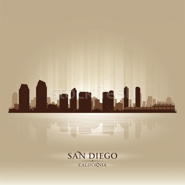San Diego California skyline city silhouette Stock photo © Yurkaimmortal