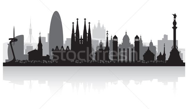 Barcelona İspanya siluet vektör örnek Stok fotoğraf © Yurkaimmortal