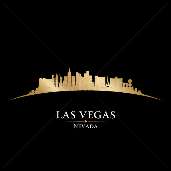 Las Vegas Nevada city skyline silhouette black background  Stock photo © Yurkaimmortal