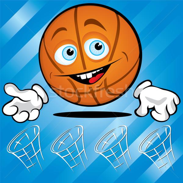 Funny smiling basket ball Stock photo © Yurkaimmortal