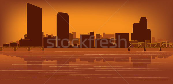 Grand Rapids, Michigan skyline Stock photo © Yurkaimmortal