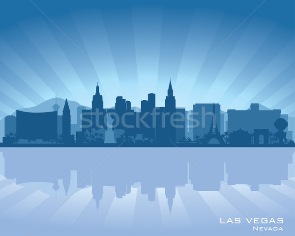 Las Vegas Nevada Skyline illustration réflexion eau Photo stock © Yurkaimmortal