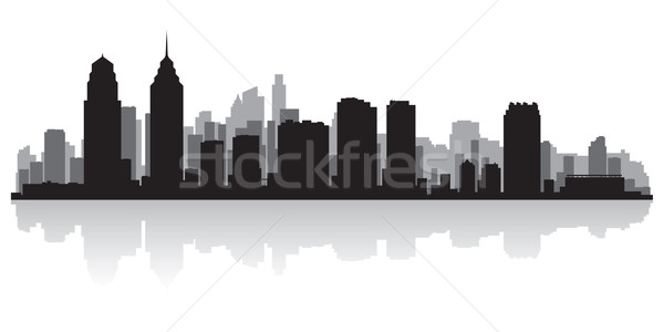 Philadelphia city skyline silhouette Stock photo © Yurkaimmortal