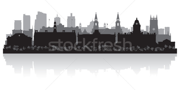 Leeds city skyline silhouette  Stock photo © Yurkaimmortal