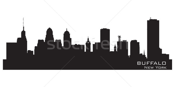 Buffalo, New York. Detailed city silhouette Stock photo © Yurkaimmortal