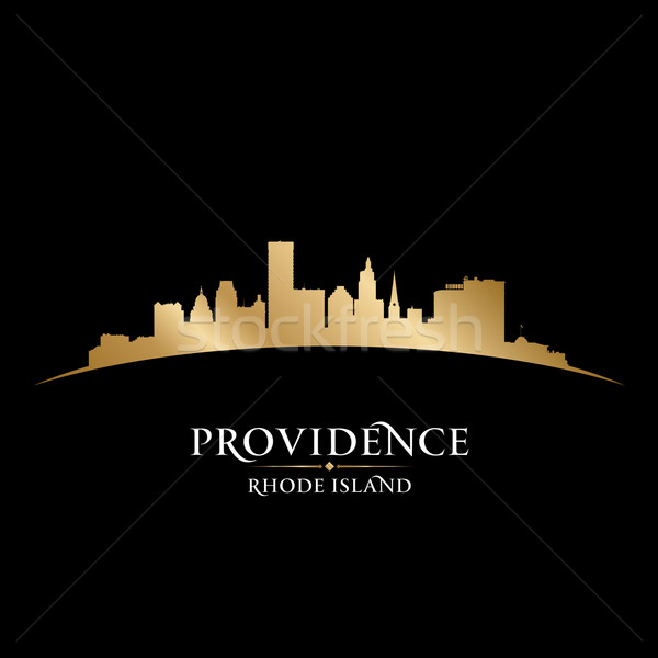 Providence Rhode Island city silhouette black background  Stock photo © Yurkaimmortal