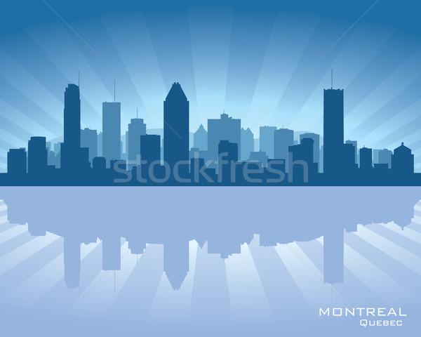 Montreal Canada skyline reflectie water stad Stockfoto © Yurkaimmortal