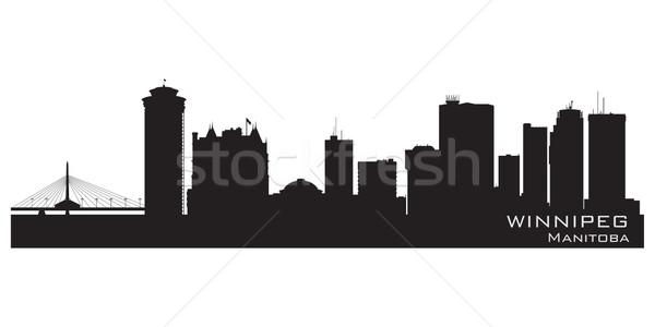 Kanada sziluett részletes város sziluett épület Stock fotó © Yurkaimmortal