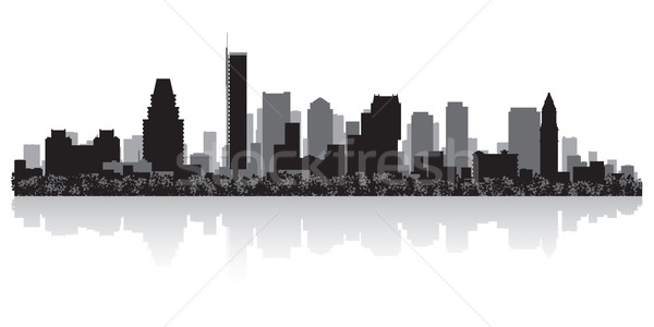 Stockfoto: Boston · silhouet · USA · business · gebouw