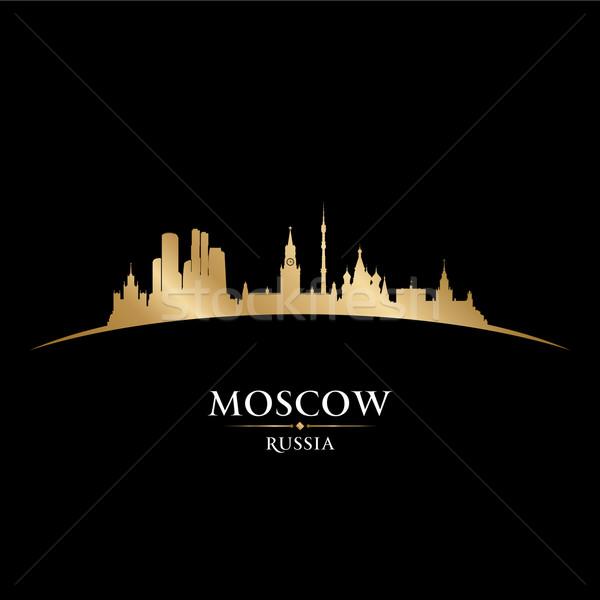 Moscú Rusia silueta negro edificio Foto stock © Yurkaimmortal