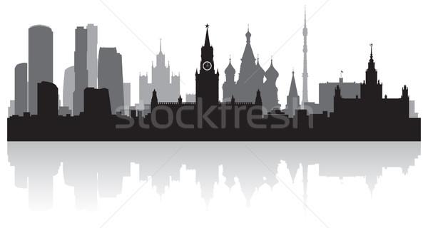 Moscou vecteur silhouette affaires bâtiment Photo stock © Yurkaimmortal