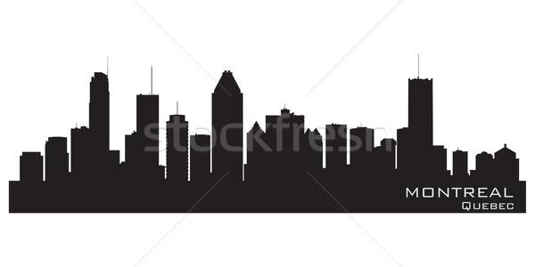 Montreal Canada skyline gedetailleerd silhouet gebouw Stockfoto © Yurkaimmortal