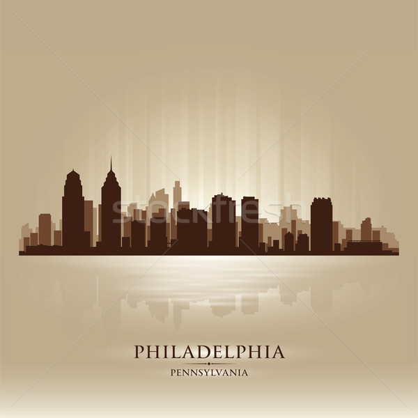 Philadelphia, Pennsylvania skyline city silhouette Stock photo © Yurkaimmortal