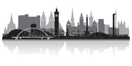 Londres silueta negocios edificio fondo Foto stock © Yurkaimmortal