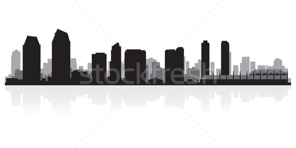 San Diego city skyline silhouette Stock photo © Yurkaimmortal