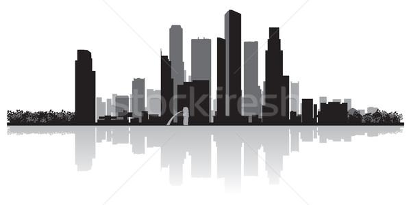 Singapur vector silueta negocios edificio Foto stock © Yurkaimmortal