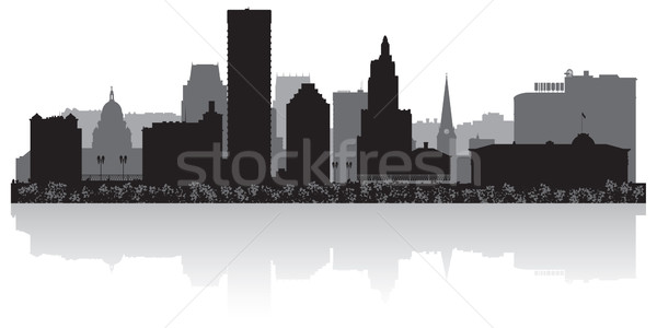 Providence city skyline silhouette Stock photo © Yurkaimmortal