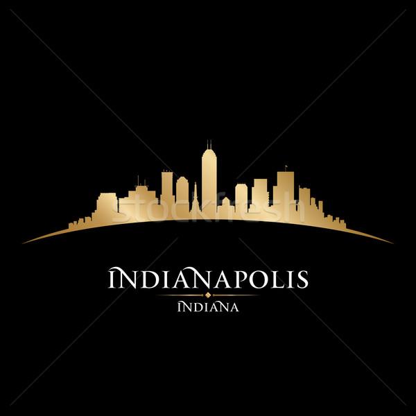 Indiana silhueta preto céu edifício Foto stock © Yurkaimmortal