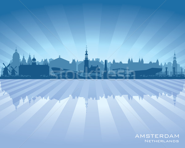 Amsterdam Pays-Bas vecteur silhouette illustration Photo stock © Yurkaimmortal