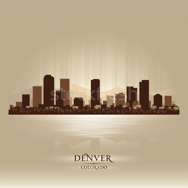 Denver Colorado skyline city silhouette Stock photo © Yurkaimmortal