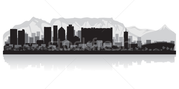 Cape Town city skyline vector silhouette Stock photo © Yurkaimmortal