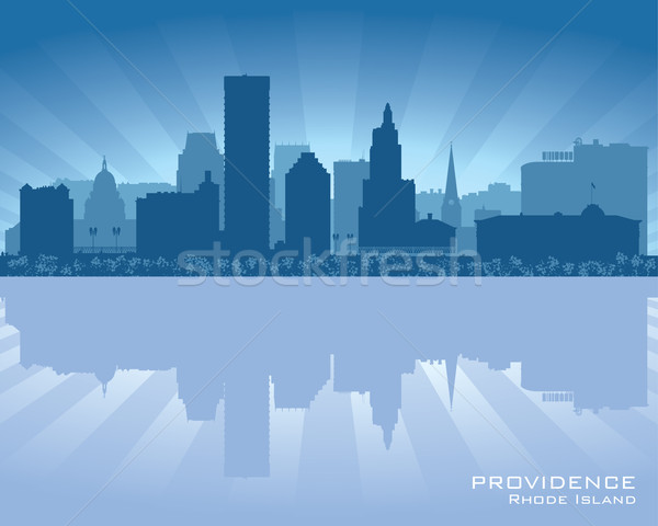 Providence, Rhode Island skyline city silhouette Stock photo © Yurkaimmortal