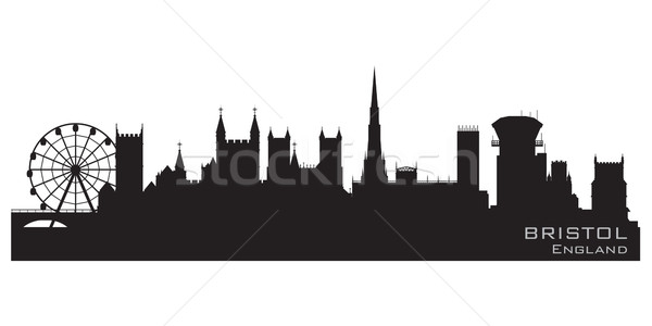Bristol, England skyline. Detailed vector silhouette Stock photo © Yurkaimmortal