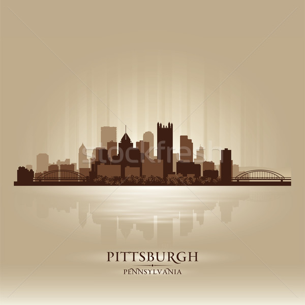 Pittsburgh Pennsylvania skyline city silhouette Stock photo © Yurkaimmortal