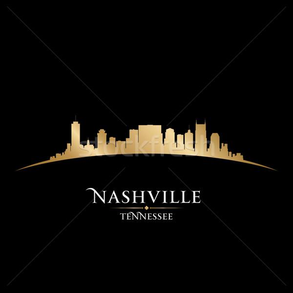 Tennessee silhouette noir ciel bâtiment Photo stock © Yurkaimmortal