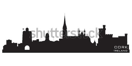 Cork, Ireland skyline. Detailed vector silhouette Stock photo © Yurkaimmortal