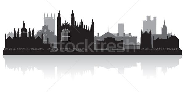 Cambridge city skyline silhouette vector illustration Stock photo © Yurkaimmortal