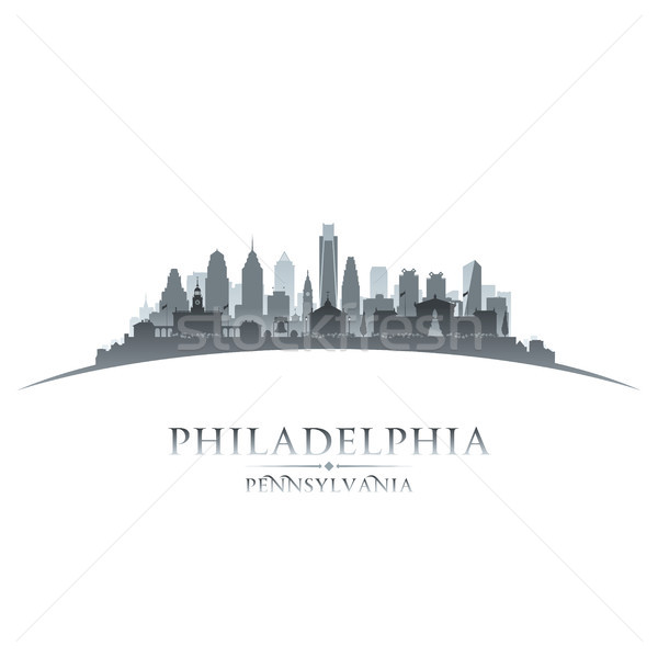 Philadelphia Pennsylvania city silhouette white background  Stock photo © Yurkaimmortal