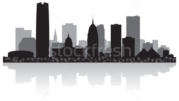 Oklahoma silhouette ville USA Skyline Photo stock © Yurkaimmortal