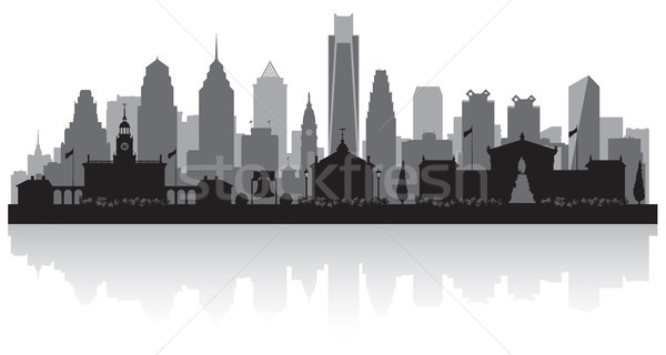 Philadelphia Pennsylvania city skyline silhouette Stock photo © Yurkaimmortal