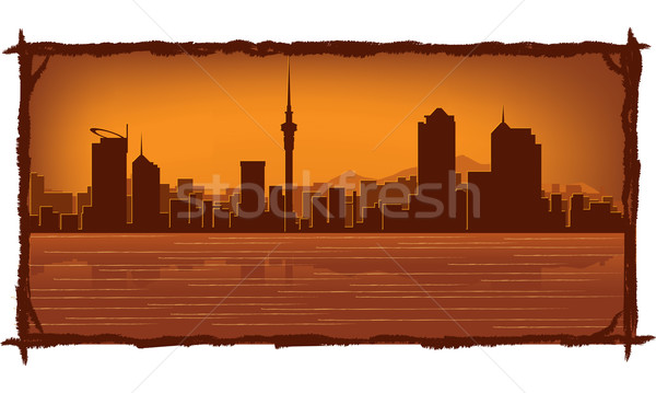 Auckland New Zealand skyline  Stock photo © Yurkaimmortal