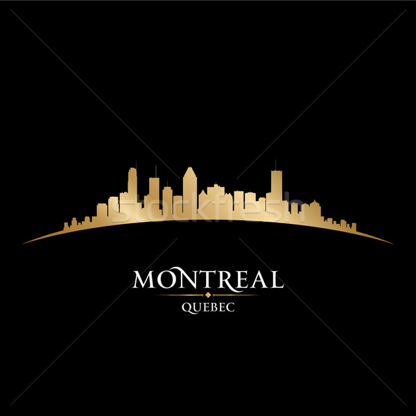 Montreal Quebec Kanada siluet siyah Stok fotoğraf © Yurkaimmortal