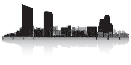 Grand Rapids city skyline silhouette Stock photo © Yurkaimmortal