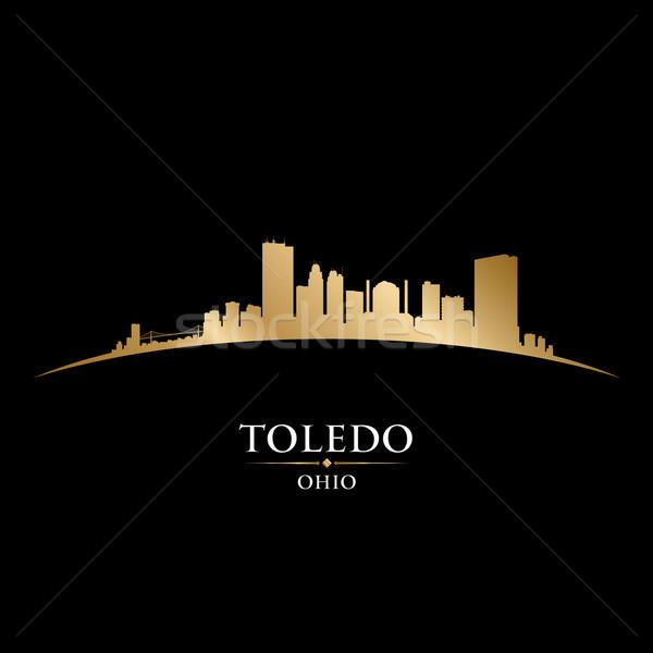 Ohio stad silhouet zwarte hemel Stockfoto © Yurkaimmortal